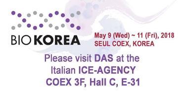 """<h5>Das espone a BIOKOREA 2018</h5> <p> La Das sarà presente a <a class=""""event_href"""" target=""""_blank"""" href=""""http://www.biokorea.org"""">BIOKOREA</a>  dal 9 all' 11 Maggio 2018. Ci troverete presso l'Italian ICE-AGENCY - COEX 3F, Hall C, E-31  </p>"""