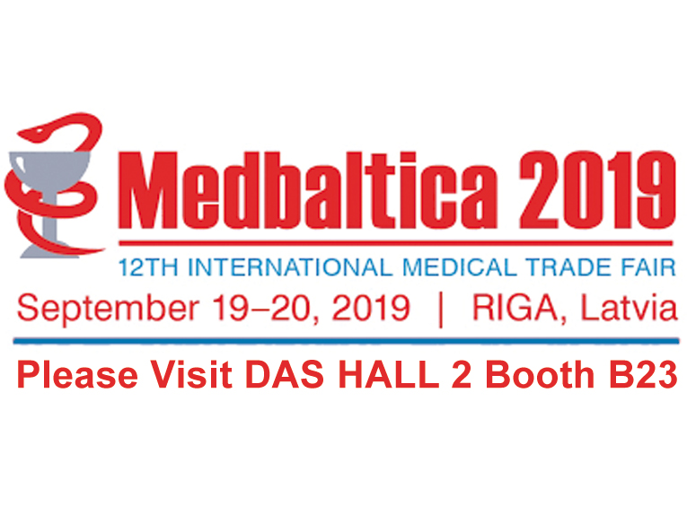 """<h5>DAS exhibits at MEDBALTICA 2019</h5>   <p>Das exhibits at <a class=""""event_href"""" target=""""_blank"""" href="""" http://www.bt1.lv/medbaltica/eng/"""">MEDBALTICA </a>   from 19th to 20th of September 2019, Hall 2 Booth B23</p>"""